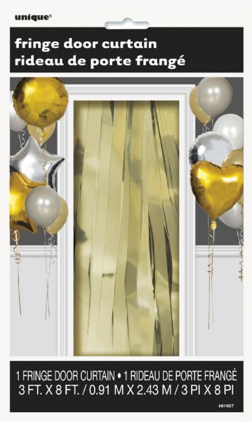 Gold Fringe Door Curtain